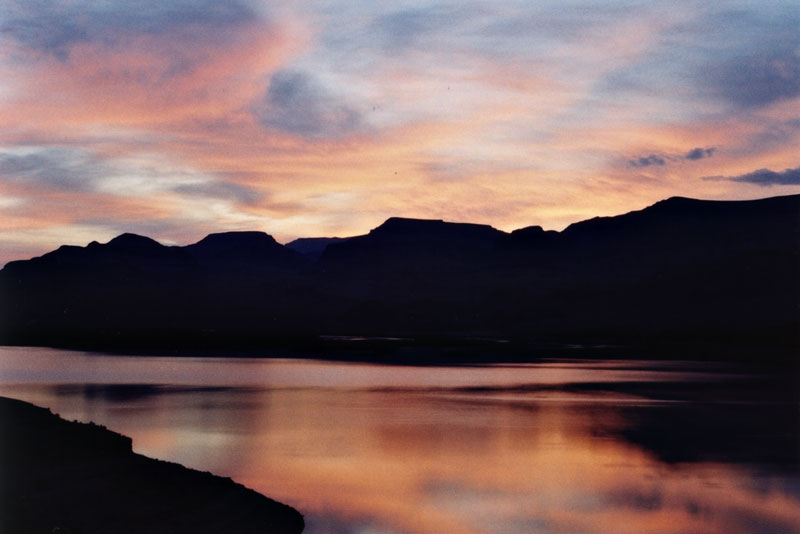 "photo ""Dawn at Lake"" tags: landscape, sunset"