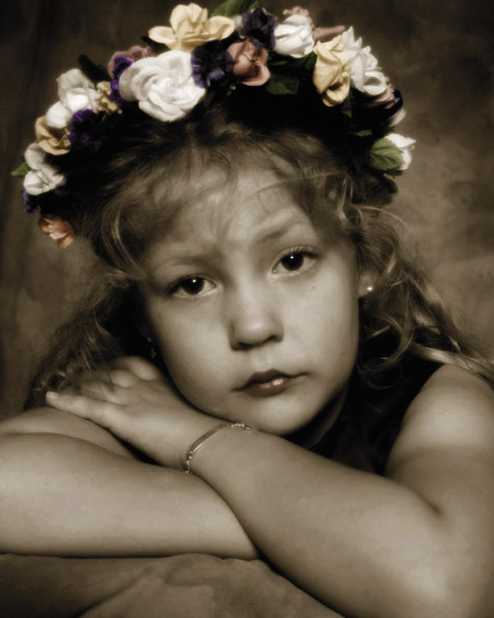"photo ""flower girl"" tags: portrait, montage, children"