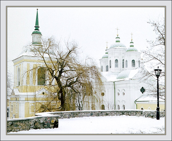 "photo ""Winter etude #2"" tags: architecture, landscape,"