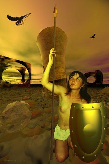 """фото """"амазонка 2"""" метки: ню, фотомонтаж,"""