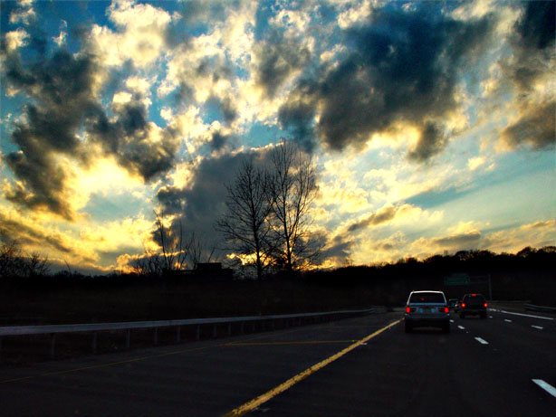 "photo ""Commuter Sky"" tags: landscape, clouds, sunset"