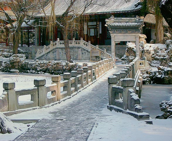 "photo ""Zhiyu Bridge After Snow"" tags: travel, Asia"