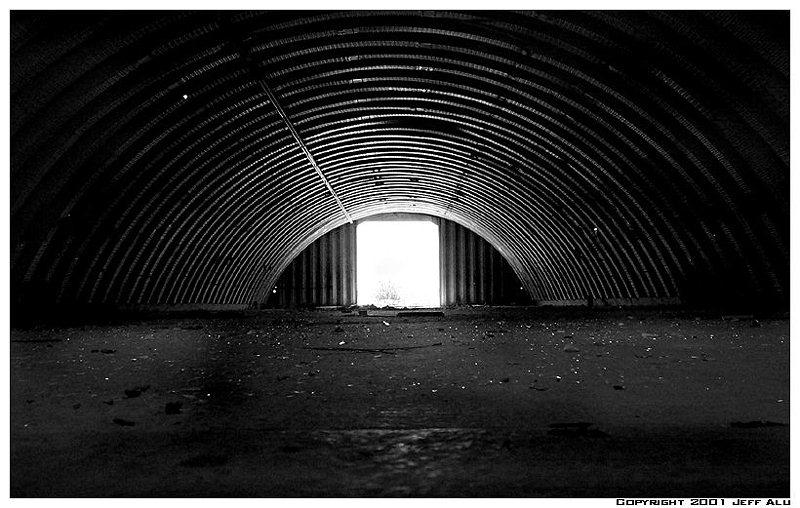 """photo """"Tunnel"""" tags: architecture, black&white, landscape,"""
