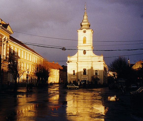 "photo ""Satu Mare postcard # 1"" tags: architecture, landscape, sunset"