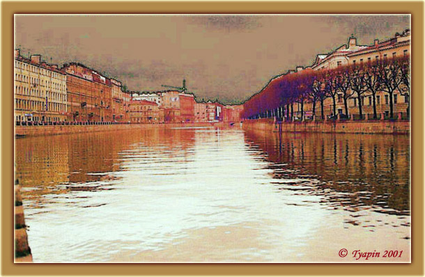 "photo ""Fontanka-river. St. Petersbourg"" tags: architecture, travel, landscape, Europe"