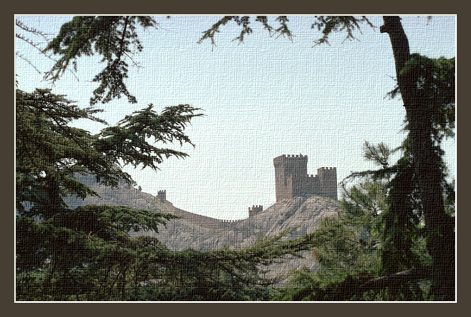 "photo ""Old fortress"" tags: landscape, mountains"
