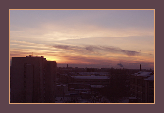 "photo ""City decline"" tags: landscape, architecture, sunset"