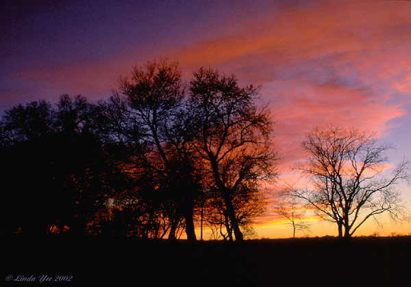 "photo ""Late Autumn Sunset"" tags: landscape, autumn, sunset"