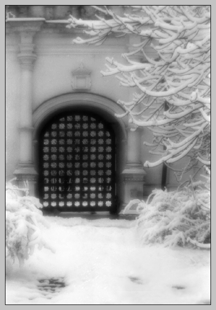 "photo ""Door in winter dream"" tags: nature,"
