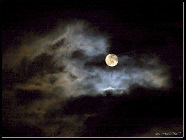 """фото """"Full Moon"""" метки: пейзаж, ночь, облака"""