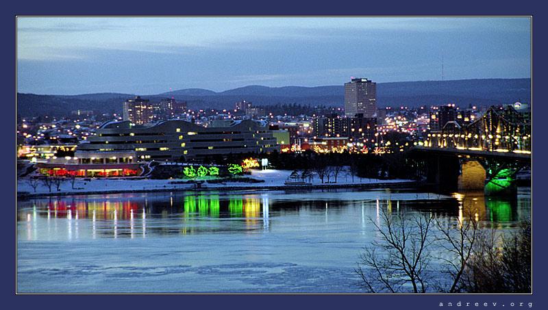 """фото """"Отражение города"""" метки: пейзаж, путешествия, Северная Америка, ночь"""