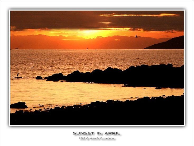 """фото """"Апрельский закат"""" метки: пейзаж, природа, закат"""