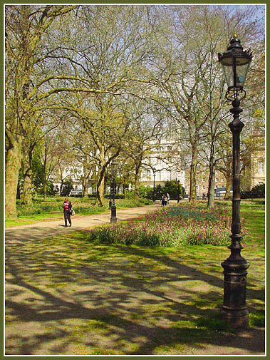 """photo """"Springtime in Green Park No. 2"""" tags: landscape, travel, Europe, spring"""