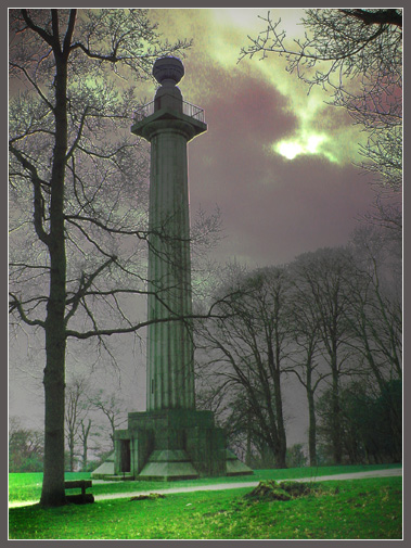 """photo """"Monument at Dusk"""" tags: landscape, montage, night"""
