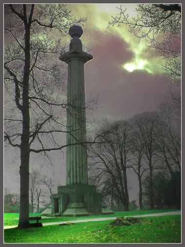 "фото ""Monument at Dusk"" метки: пейзаж, фотомонтаж, ночь"