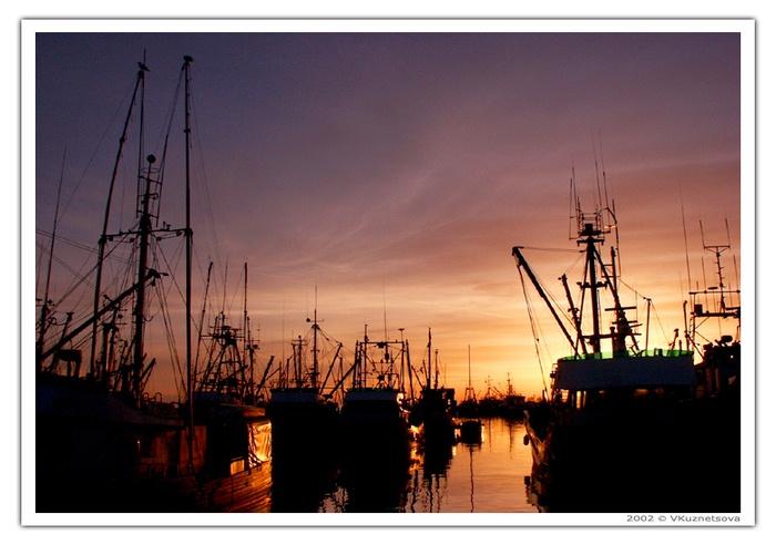 "фото ""Закат в порту - 2"" метки: пейзаж, вода, закат"