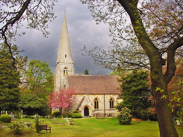 """photo """"High Beech Church"""" tags: landscape, architecture, spring"""