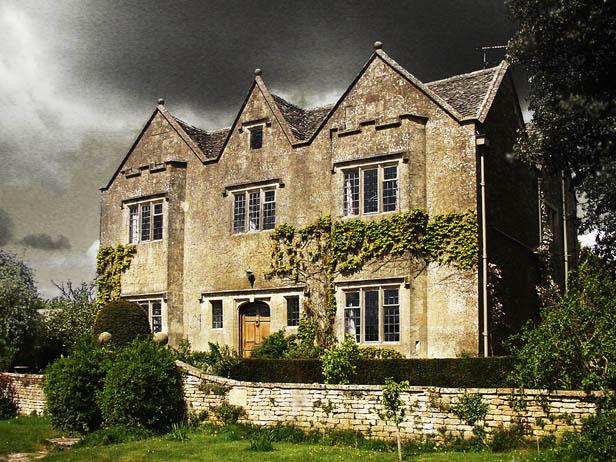 """photo """"Bleak House"""" tags: montage, architecture, landscape,"""