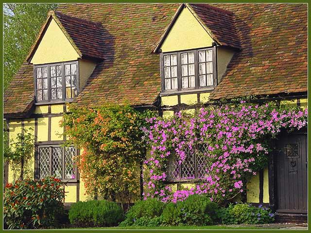 """photo """"English Cottage"""" tags: architecture, montage, landscape,"""