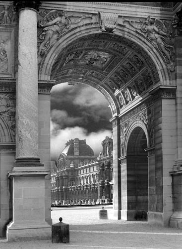 "photo ""Carousel arch and louvre"" tags: architecture, travel, landscape, Europe"