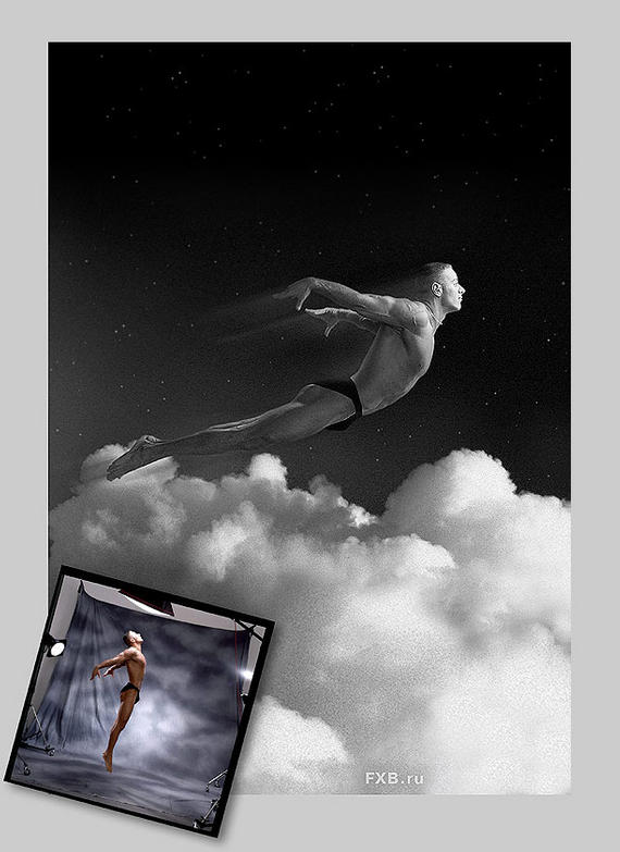 "photo ""Flights in dream and on real (photo 1)"" tags: montage, genre,"