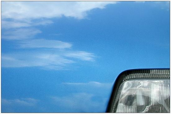 "photo ""Sky of the blue ""Renault"""" tags: misc.,"