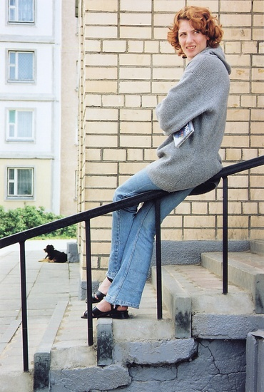 """фото """"Современная дама с собачкой"""" метки: портрет, жанр, женщина"""