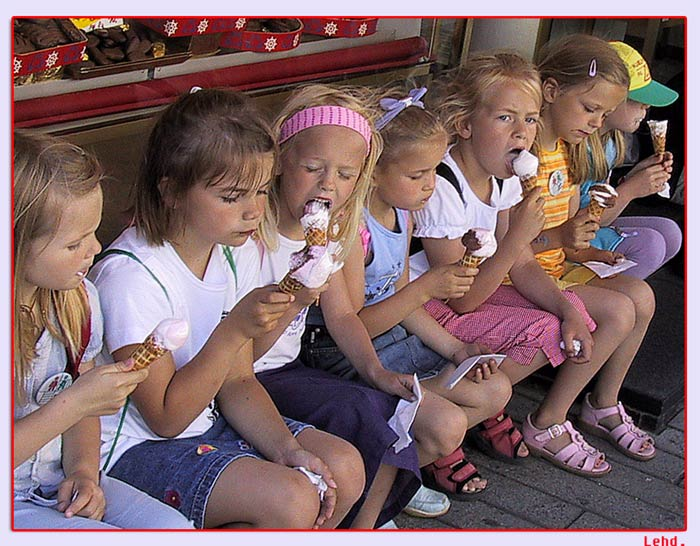 "photo ""Ice cream"" tags: misc., portrait, children"