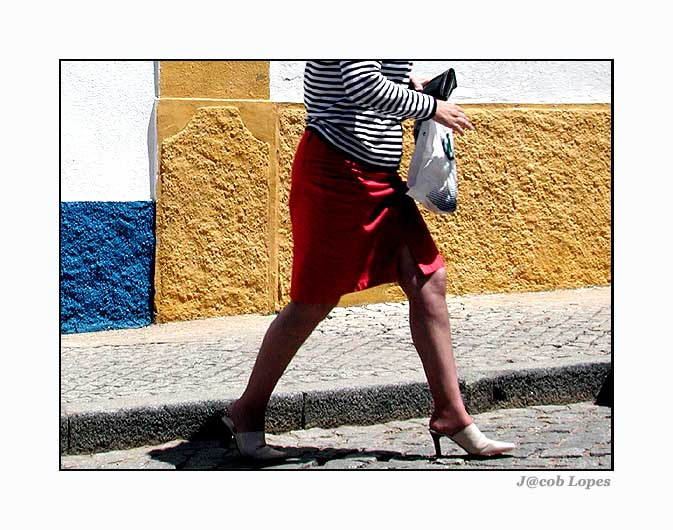 """photo """"red, blue & yellow"""" tags: abstract, portrait, woman"""