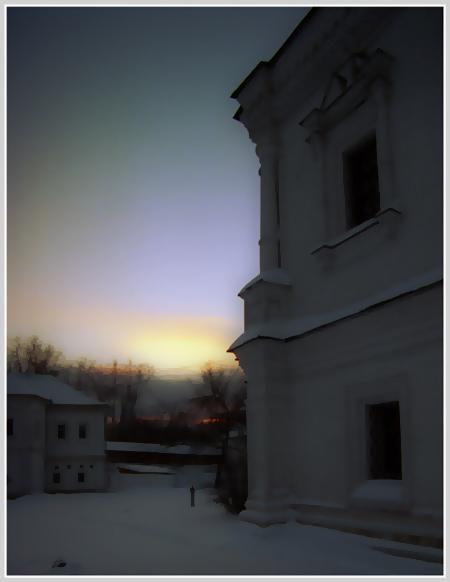 "фото ""Вечереет #2"" метки: пейзаж, архитектура, закат"