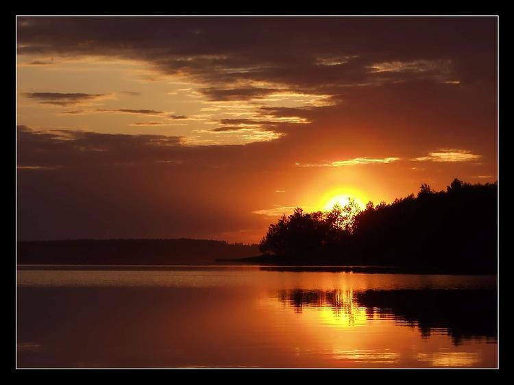 """фото """"Озеро, Закат"""" метки: пейзаж, закат"""