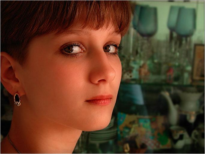 """photo """"Аttentive"""" tags: portrait, woman"""