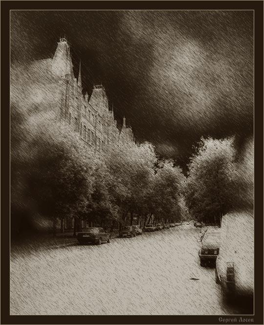 """photo """"La rue de la Nuit Blanche"""" tags: architecture, landscape,"""