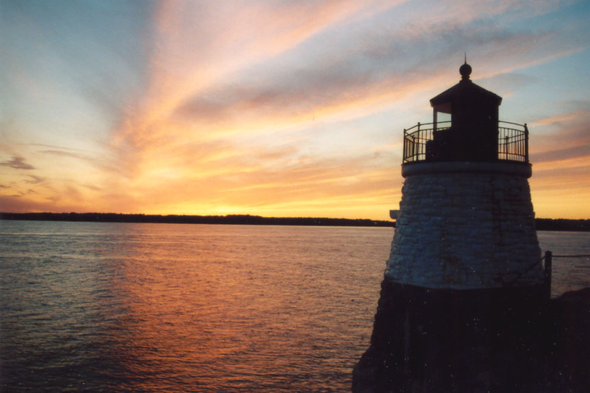 "photo ""New England Sunset"" tags: landscape, sunset, water"