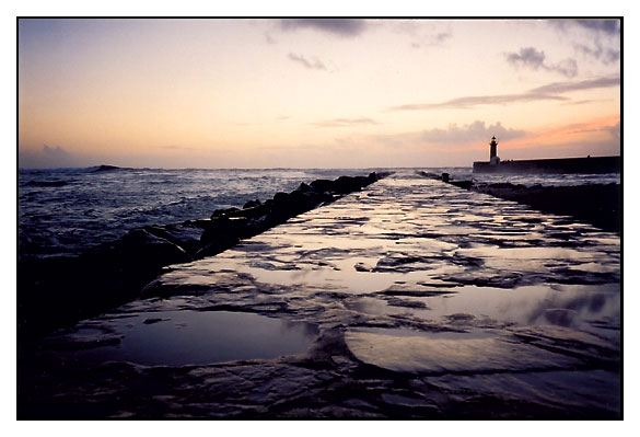 "photo ""the lighthouse"" tags: landscape, sunset"