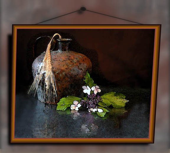 """photo """"The picture on the wall"""" tags: montage, still life,"""