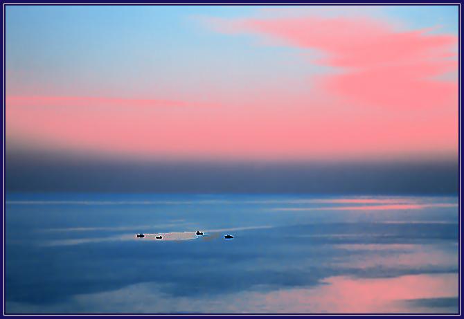 "фото ""Рыбное место"" метки: пейзаж, вода, закат"