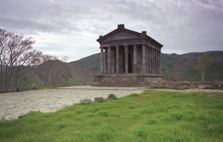 "photo ""Antique temple in the gloomy morning"" tags: architecture, landscape, spring"