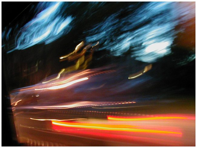 "photo ""Night, Highway, Slow shutter"" tags: genre, abstract,"