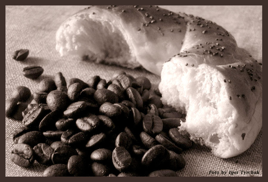 """фото """"кофе с булочкой (из серии """"Завтрак"""")"""" метки: натюрморт, макро и крупный план,"""