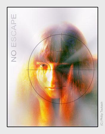 """photo """"No escape"""" tags: portrait, montage, woman"""