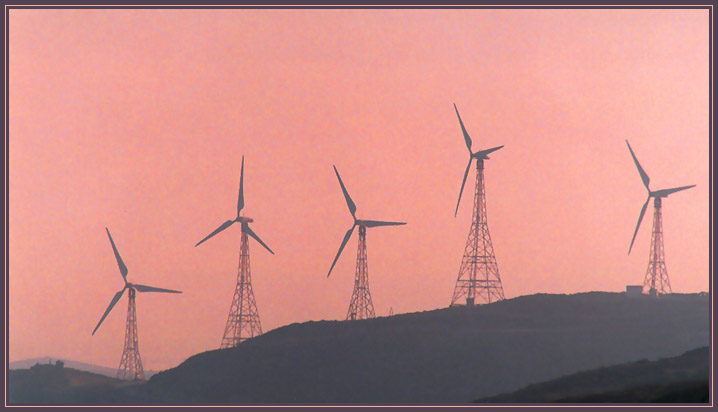 "photo ""Windmills of my mind"" tags: landscape, sunset"