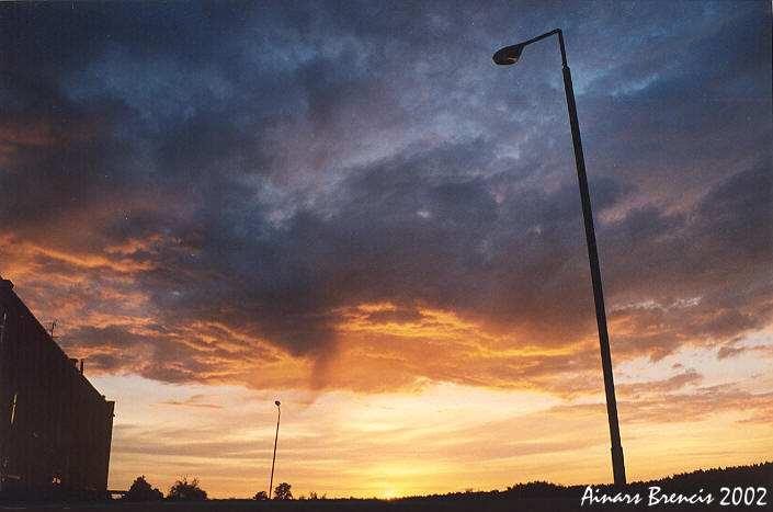 "фото ""Latvian sunset"" метки: пейзаж, закат"