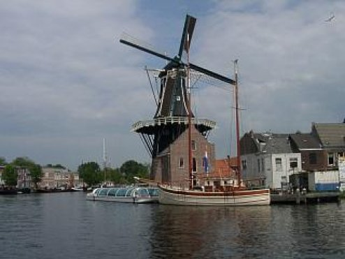 "photo ""Dutch mill Adriaan"" tags: architecture, landscape,"