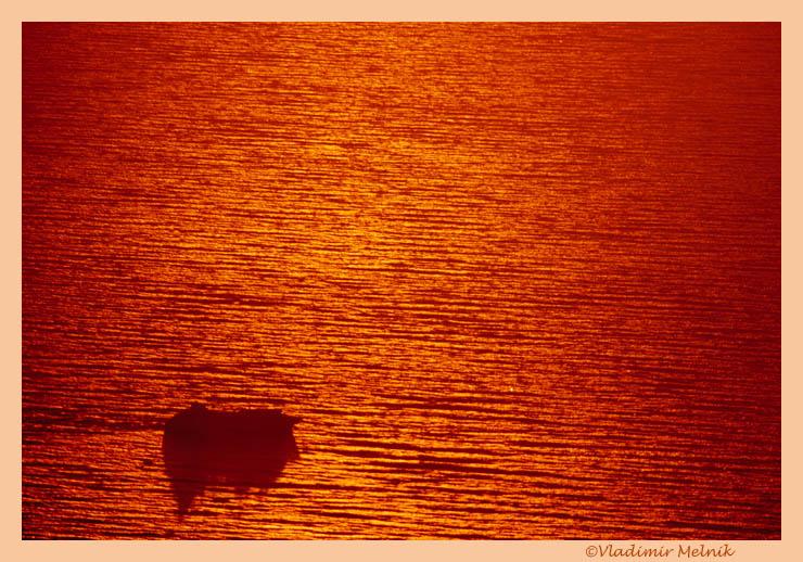 """фото """"В Золотом море..."""" метки: пейзаж, вода, закат"""