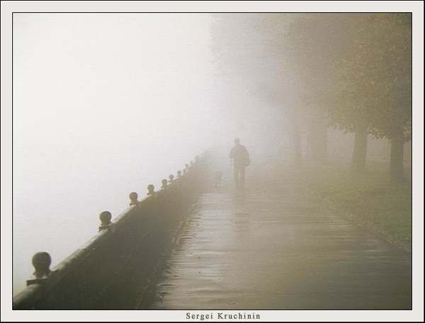 "photo ""Fog morning"" tags: architecture, nature, landscape,"