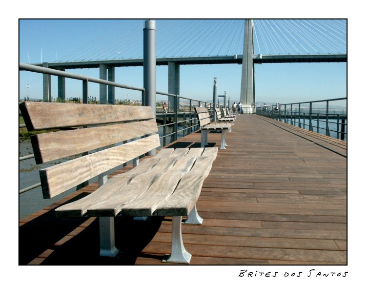 "фото ""The Bridge Sidewalk"" метки: архитектура, пейзаж,"
