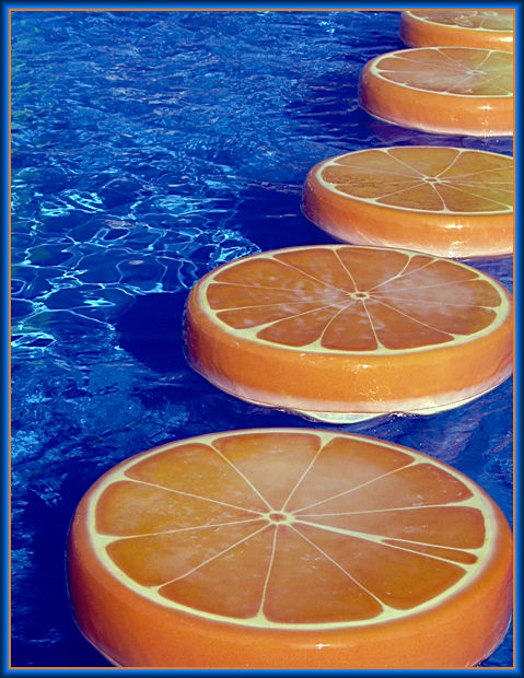 "photo ""Oranges on water."" tags: travel, abstract,"