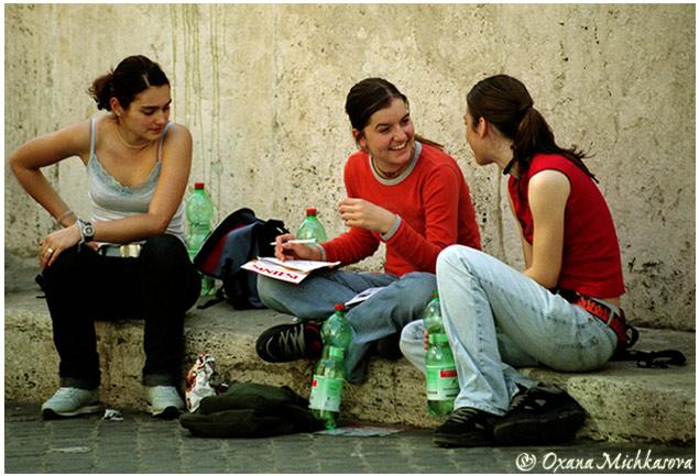 "photo ""Italian teenagers."" tags: genre,"