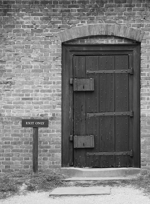 "photo ""Exit only"" tags: travel, abstract, North America"